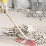 builder cleans Hythe